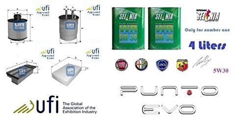 Kit filtri tagliando UFI + 4 Litri Olio Selenia 5W30