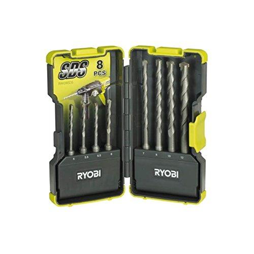 Ryobi RAK08SDS SDS Drill Bit Set, 8 Piece
