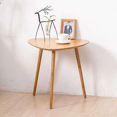 GZLL Bambus Side Beistelltisch, Dreieck Schreibtisch, Mid Century Kaffee Accent Tisch, klare Struktur, for Balkon, Schlafzimmer, Esszimmer, kompakt, Wasserdichten