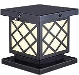 Beautiful Home Decoration Lamps Moderne E27 Außenpollerleuchte Design Schwarze Zink-Legierung Acryl Schirm-wasserdichte Garten-Lampen Leuchte for Rasenplatz for Balkon Terrasse Säule Landschaft Außen-