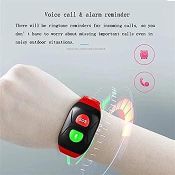 ZIJIAGE Bracelet SOS, Emplacement GPS, Tracker GPS, pour Les aînés Con SOS Appel d'urgence,A