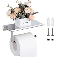 LQRLY Toilet Paper Roll Holder with Phone Shelf