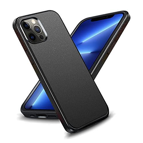 OTAO Shockproof Designed for iPhone 13 Pro Max Case, [Metallic Finish Matte] Anti-Fingerprint/Scratch iPhone 13 Pro Max Phone Case, Comfortable Grip Case Cover-Black 6.7 inch