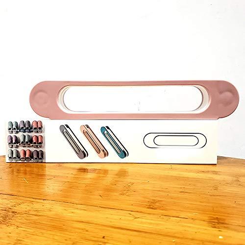 Estante de zapata plegable tres en uno montado en la pared, estante de toallas de baño, estante de almacenamiento de estante de zapatilla de baño, estante de zapatilla plegable,Pink