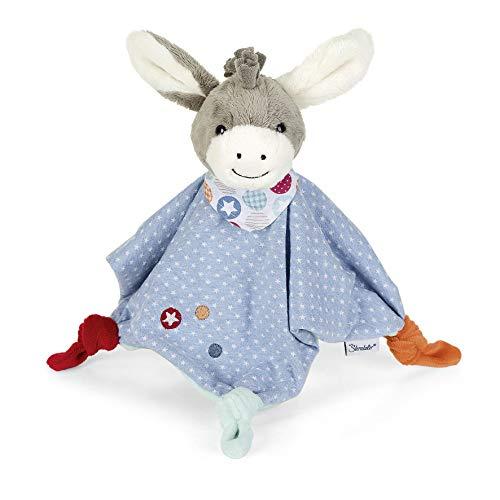 Sterntaler Schmusetuch Esel Emmi, Für Babys ab dem 1. Monat, Größe M, 40 cm, Grau/Mehrfarbig