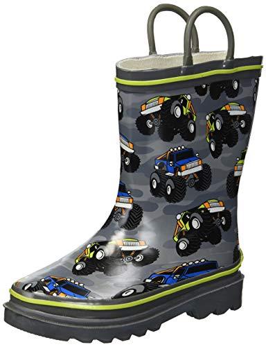 Western Chief Boy's Waterproof Printed Rain Boot, Monster Crusher, 13 Little Kid
