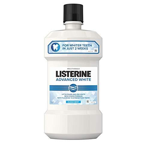 Listerine Advanced White Mouthwash Clean Mint, 1 Litre
