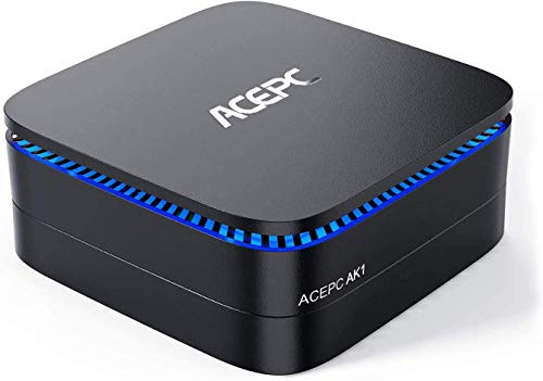 ACEPC AK1 Mini PC,Windows 10(64 bit) Computer desktop Intel Celeron Apollo Lake J3455 (fino a 2,3GHz) Computer desktop[4GB/64GB/Supporto SSD da 2,5'/ SSD mSATA/Doppio WiFi/Gigabit Ethernet/BT 4.2/4K]