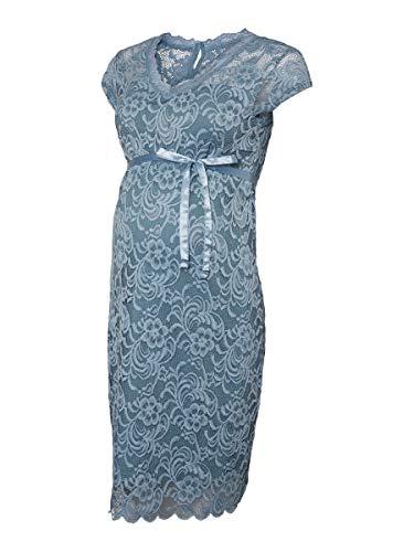 MAMALICIOUS Mama Licious Damen Umstandskleid Spitzen LSmoke Blue