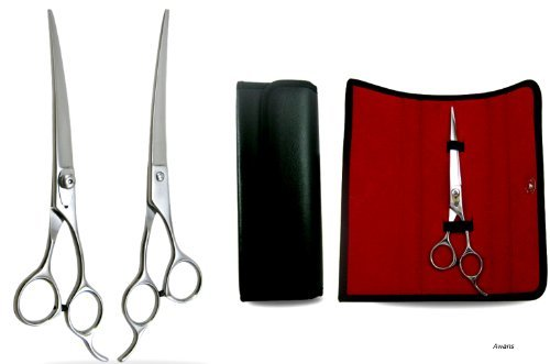 Ciseaux de Coiffure pour Animaux - Curvé - Acier Inoxydable - 20,32 cm