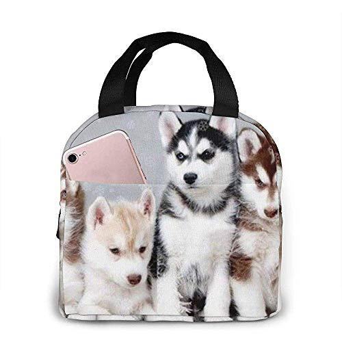 Lunch Bag - Lovely Huskies Bruder Tote Handtasche Lunchbox Lebensmittelbehälter Kühler Warm Pouch Für die Schule Arbeitsamt