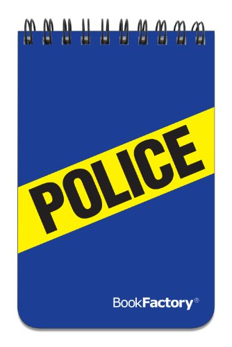 BookFactory Police Notebook/Mini Police Notepad/Pocket Police Officers Log Book 120 Pages - 3 1/2