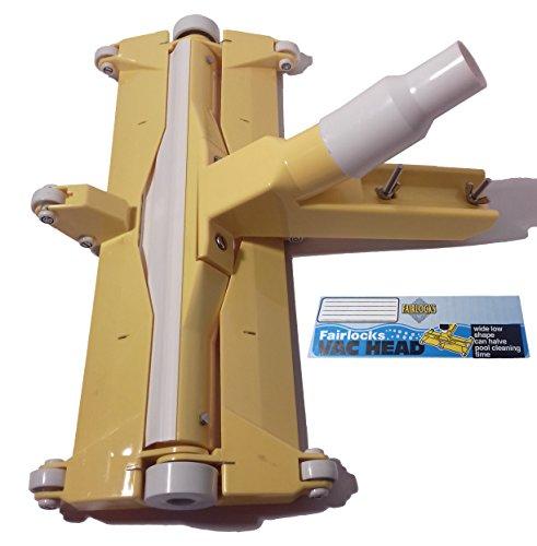 muma Aspirateur Fairlock en PVC avec roues et brosses 47 cm, raccord tuyau 38/50 mm.