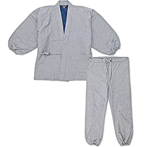 wasuian Men's Samue Quilt Work Clothes