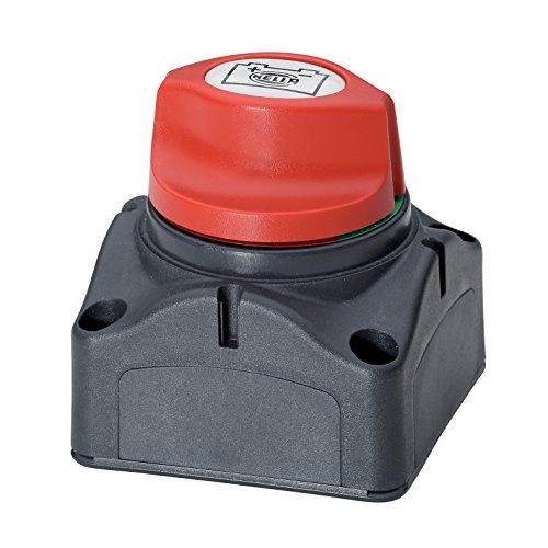 HELLA 6EK 002 843-071 Hauptschalter, Batterie - Drehbetätigung - Anschlussanzahl: 2 - geschraubt - Gewindesteigung: 1,5mm - Schließer