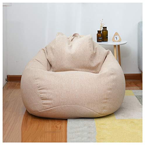 LXLTL Beanbag Original beanbag Interior y Exterior Gigante puf sillón cojín para niños y Adultos Puff 60x70cm,F