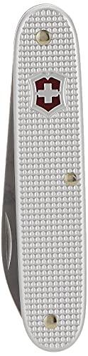Victorinox Swiss Army 1 Alox Taschenmesser (1 Funktion, grosse Klinge), silber in Alox-Schalen