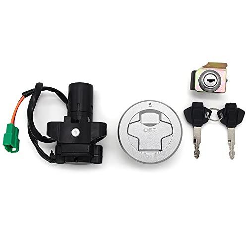 XIOSOIAHOU Motorcycle Seat Lock Key Set Fuel Gas Cap Kit Ignition Switch Fit For Suzuki GIXXER155 GSX150F L8 GSX150F RZA DZA L8 37000-34840-000