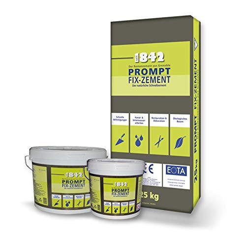 OTTERBEIN PROMPT Fix-Zement natürlicher Schnell-, Romanzement, dauerhafter Mörtel gegen Umwelteinflüssen, Salzbelastung, Feuchtigkeit, Inhalt:15 kg