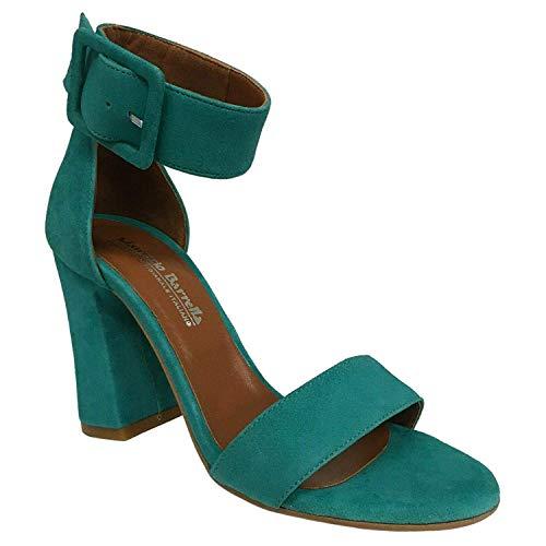 MAURIZIO BARRELLA Sandalo Donna Art Lisa CAMOSCIO 100% Pelle Made in Italy (37 EU, Tiffany)