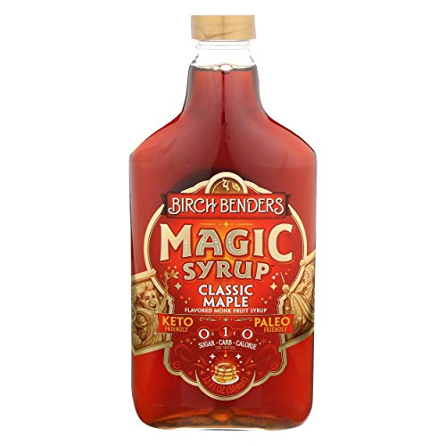 Birch Benders Flavored Monk Fruit Syrup Classic Maple Magic 13 Fl Oz