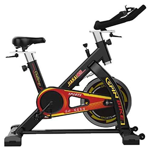 Lcyy-Bike Allenatori Indoor Bicicletta Infinite Resistenza 13 kg Volano Cardio Workout con Monitor & Kettle Porta Cinghia Regolabile Manubrio E Altezza Sedile per Uomo/Donna Nero