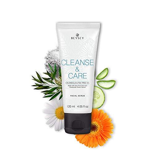 ¡NUEVO! Limpiador Facial Exfoliante Scrub Peeling con Perlas de SÍLICE + Aloe Vera, Árbol de Té, Calendula y Manzanilla - CLEANSE&CARE Beysey 120ml