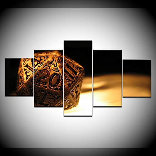 KJLTLD Canvas Prints - Dungeon & Dragon Cover HD - 200x100cm/80x40inch Nonwoven Flat Wall Decoration Wall Living Room - 5 Pieces - Art Prints - Ready to Hang - DA72907FA