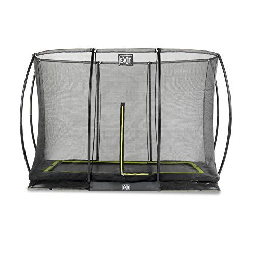 EXIT Silhouette Bodentrampolin 214x305cm mit Sicherheitsnetz - schwarz