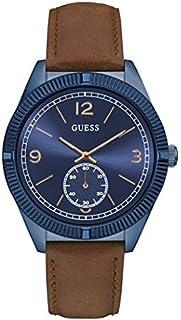 ساعة جيس رسمية للرجال بهيكل من الستانلس ستيل، مينا ازرق، انالوج -W0873G2