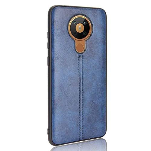 GOGME Cover per Nokia 5.3 Cover, Custodia per Telefono in Pelle Retro Ultra Sottile Cassa Morbido TPU Silicone Case, Antiurto AntiGraffio Cover per Nokia 5.3, Blu