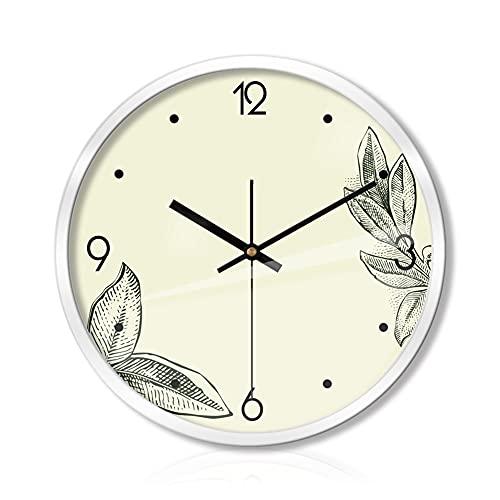 Wall Clock Reloj de pared 12/14 / 16 pulgadas Reloj silencioso Movimiento de cuarzo Reloj de pared Batería Operada para el reloj de oficina Sala de estar Cocina Cocina Decoración de la habitación para