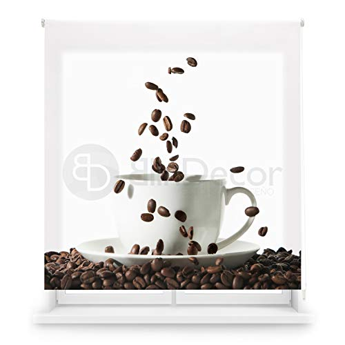 Blindecor Estor Enrollable translúcido Cocina, Coffee, 150 x 180 (Ancho x Alto)