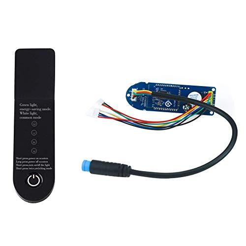 Jorzer Placa De Circuito De Moto, Cuadro De Instrumentos Bluetooth para Xiaomi M365 Scooter Eléctrico Scooter De Sustitución De Piezas De Módulo De La Parte del Tablero De Instrumentos Panel Negro