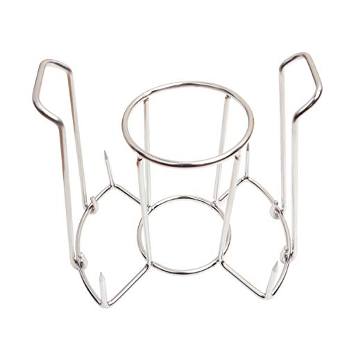 onlyfire Stainless Steel Cooking Beer Can Chicken Holder Chicken Roast Rack for Grill, Smoker or Oven