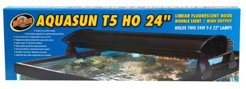 Zoo Med AquaSun AF2-80E AquaSun T5 - Lámpara de mesa (80 cm, para 2 bombillas de 24 W, no incluye bombilla)