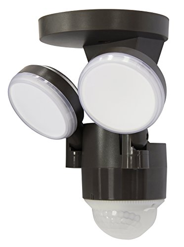 FLI Products IQ America LP-1803-BZ Twin Wall Mounted Motion Sensing LED Flood Light, Bronze