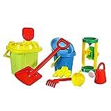 Großes Kinder Strand-Spielzeug Sandspielset für Sandburgen inkl Sand- & Wassermühle perfekt für...