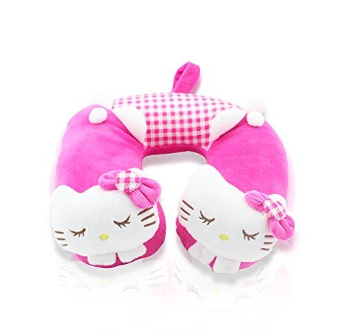 FINEX Premium Hello Kitty Pink U-Form Reise Zuhause Autositz Nackenkissen Kopfstütze Kissen niedlich weich bequem