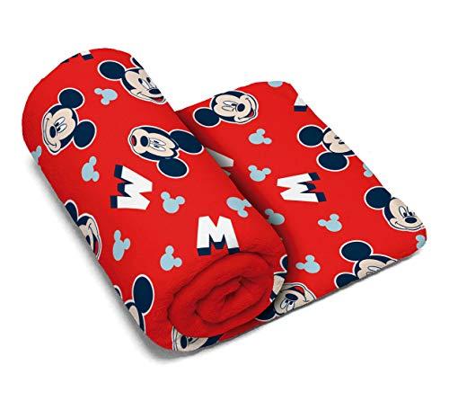 ARDITEX WD13250 Manta de Coralina de 150x95cm de Disney-Mickey