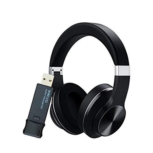 Auriculares Bluetooth 5.0 de Baja latencia/LL + Auriculares del transmisor de Audio USB Reducción de Ruido HiFi Auriculares inalámbricos para TV PC