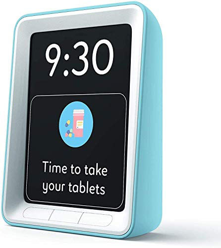 Live Better With Digital Dementia Clock for People with Alzheimer's & Impaired Vision, with Pill Reminders (Blue)