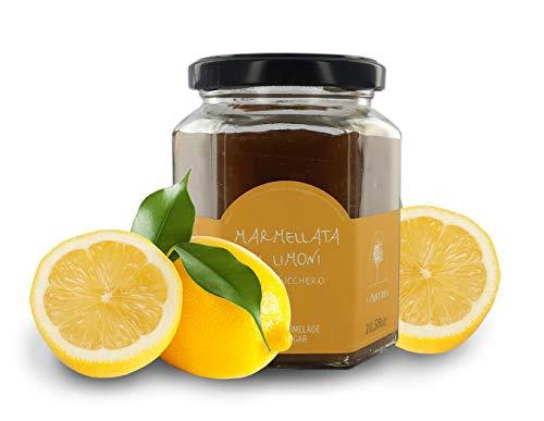 La Nicchia Pantelleria Mermelada de limón artesana - sin conservantes, Aromas ni pectinas - Tarro de 300gr