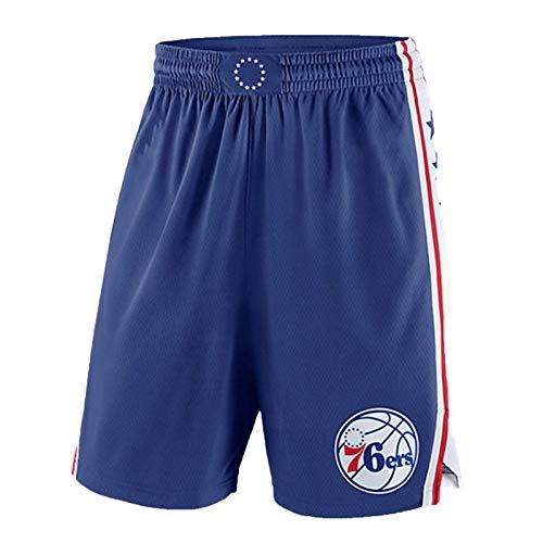 ADHA Camiseta De Baloncesto De Los Philadelphia 76ers Joel Embiid para Hombre, Nuevo Uniforme De Baloncesto De 2021# 21, Camiseta Sin Mangas Unisex, Chaleco Deportivo Bo Blue Ball Pants-M
