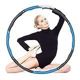HAIHF Hoola Hoop Reifen Erwachsene, Gewichtsverlust Schlankheits Kreis, Gymnastik Kreis abnehmbare Schaumbeschichtung Massageknopf Wellenstruktur für Gewichtsverlust Fitness-Training, 1KG