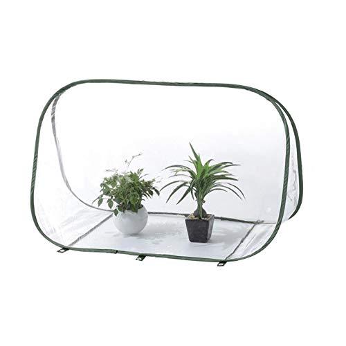 uyhghjhb Mini invernadero tienda de campaña, pop-up de PVC, casa pequeña para interior y exterior, jardín con cubierta transparente protegida para plantas