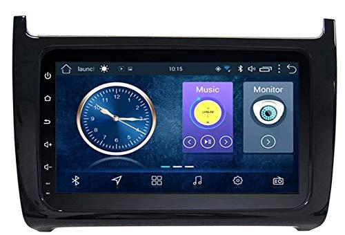 XXRUG para Volkswagen Polo 2011-2016 9 Pulgadas Estéreo para automóvil Sistema de navegación GPS Navegador satelital Rastreador de Reproductor Auto Radio Bluetooth WiFi Pantalla táctil Espejo