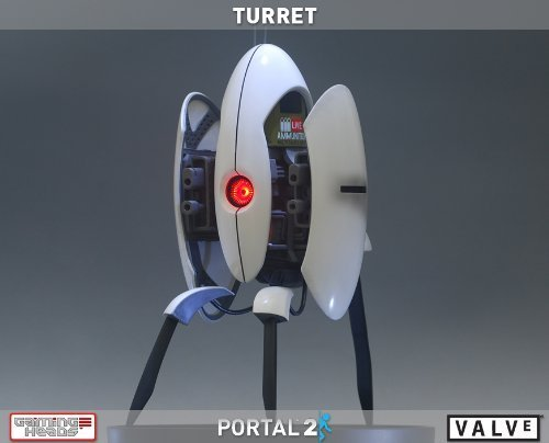 Gaming Heads Portal 2 Sentry Turret 20 Polystone Statue by Gaming Heads