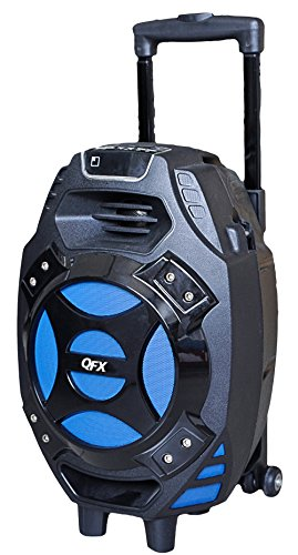 QFX PBX-61081BT/BL Portable Bluetooth Party Speaker, Blue