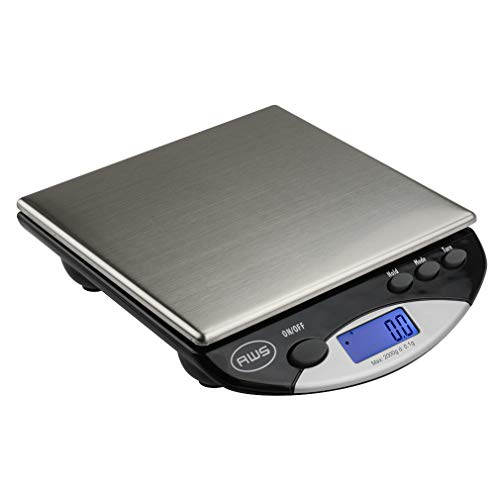 American Weigh Scales AMW Series Precision Digital Kitchen Scale, Stainless Steel, 2000G x 0.1G (AMW-2000)
